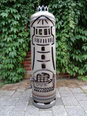 Feuerflair Feuerstelle Leuchtturm Anker Segelschiff Feuertonne