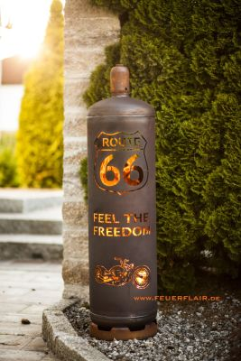 Firepit Route66 ROUTE66 Gas by Feuerflair.de
