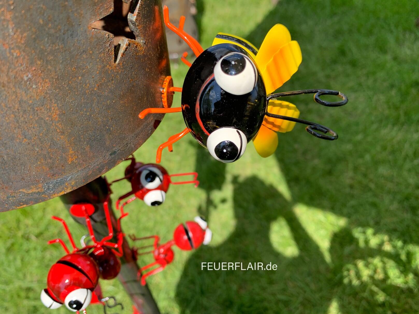 Biene Aus Metall Mit Magnet Feuerflair Online Shop