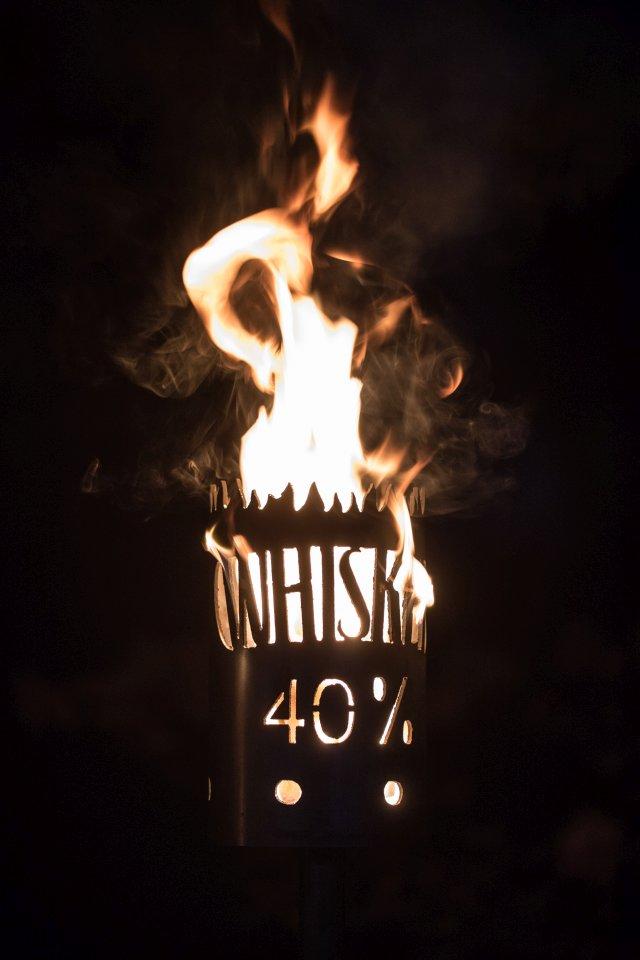 NEU Feuerkorb AC//DC und Whiskey 2 mm Stahlblech 40 cm x 40 cm x 70 cm