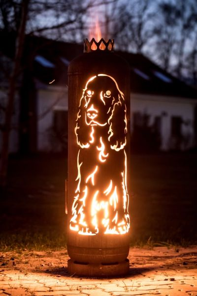 Firepit English Cocker Spaniel Dog by Feuerflair.de