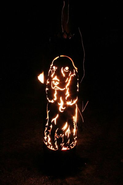 Great Firepit English Cocker Spaniel Dog by Feuerflair.de