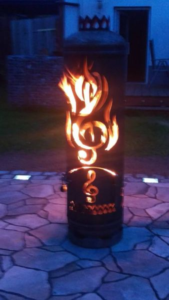 Fireplace Note in flames