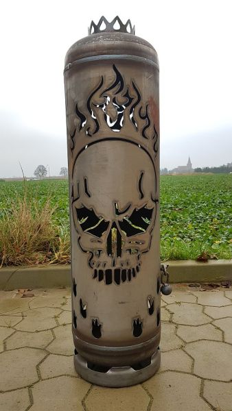 Fireplace Skull with Special Door by Feuerflair