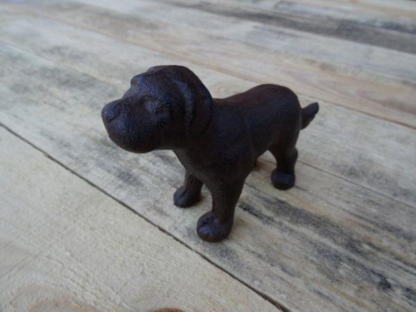 Hund deko figur aus gusseisen feuerflair online shop for Gartendekoration tiere