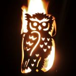Garden Torch Owl by Feuerflair.de